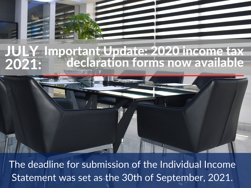 Important Update: 2020 income tax declaration forms available